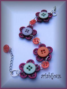 ariabijoux: bottoni in fiore buttons in flower