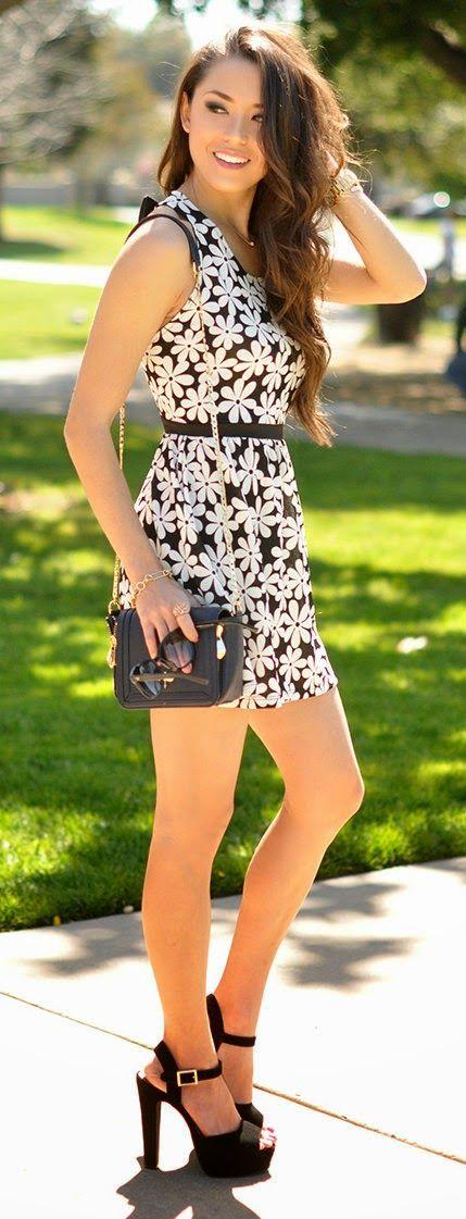 Zeliha's Blog: Adorable Floral Sleeveless Summer Mini Dress