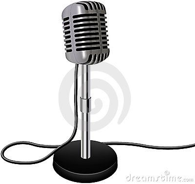 Stock Photo: Vector microphone isolated on white background.