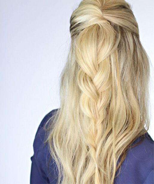 Back View of Stunning Long Prom Hairstyles for Women