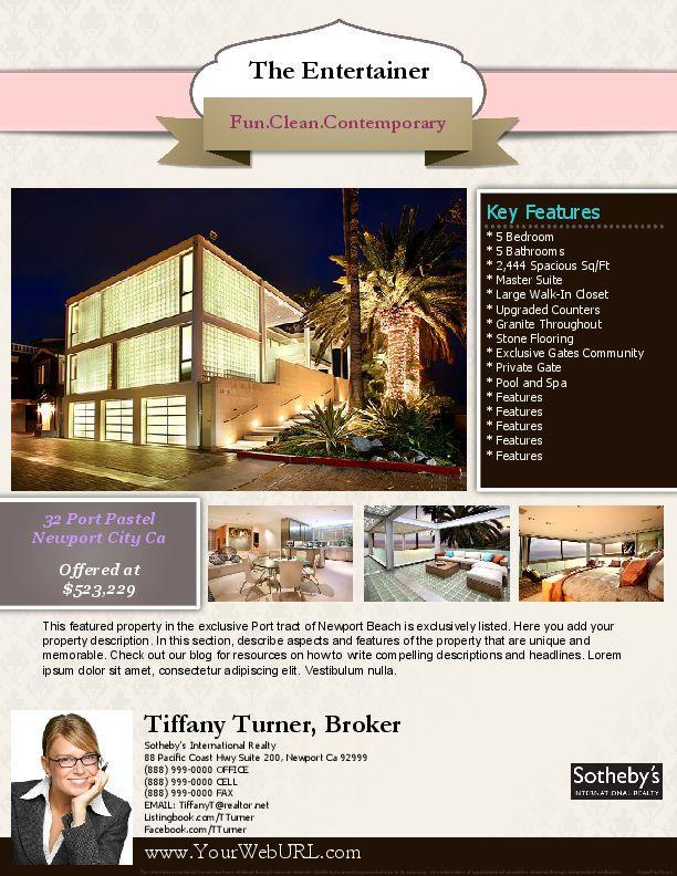 37 best Real Estate Marketing Flyer Templates images on Pinterest - real estate brochure template