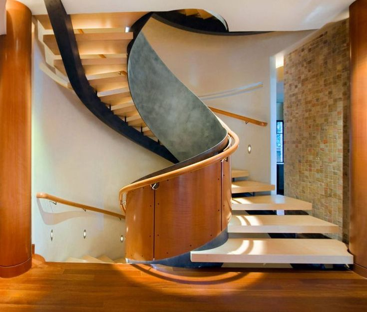 Unusual Staircases Inside Of Apartments And Houses : Modern Custom Spiral  Staircase.