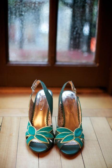 aqua flower shoes/ everyone likes these!