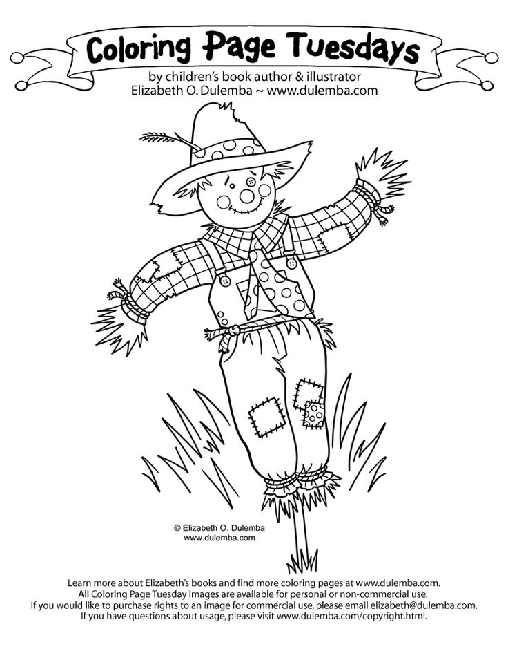 Fall Childrens Coloring Pages