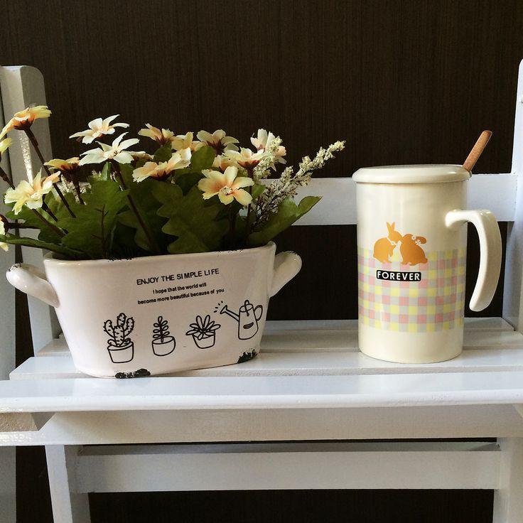 Искусственное растение White Flowerbed