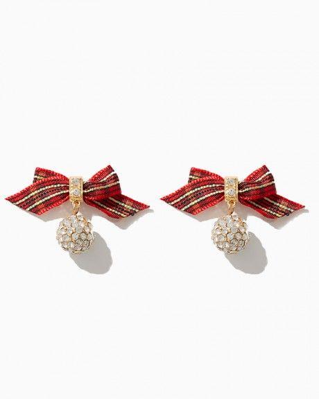 Tartan Fireball Bow Earring