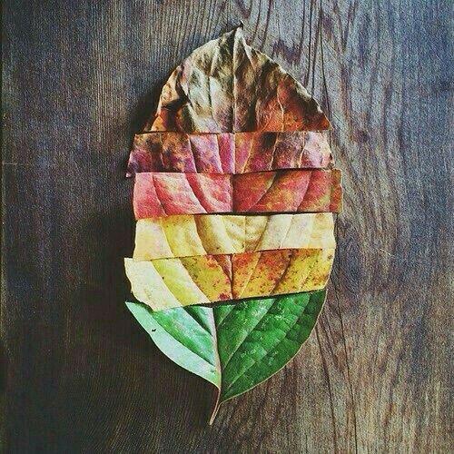 Metal leaf decor.