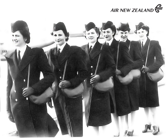 First six stewardesses employed by TEAL (now Air New Zealand) in 1946 #FlashbackFriday