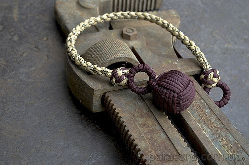 Вяжем узел - обезьяний кулак  (monkey fist knot) - ПАРАКОРД ФУРНИТУРА ИЗДЕЛИЯ
