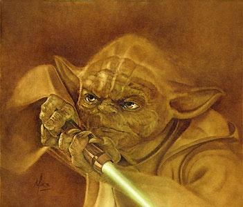 Star Wars - Jedi Master - Yoda - Mike Kupka - World-Wide-Art.com - $195.00 #StarWars #Lucas