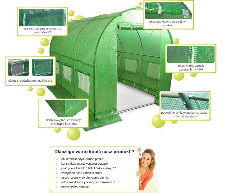 Tunel foliowy 18 m2