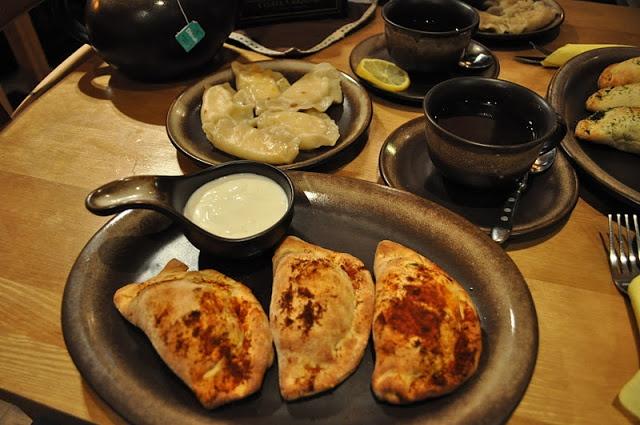 Poznan Poland, Chatka Babuni big restaurant with every kind of dumpling, worth trying
