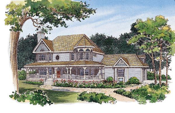 49 best victorian house plans images on pinterest for Victorian home plans with turret