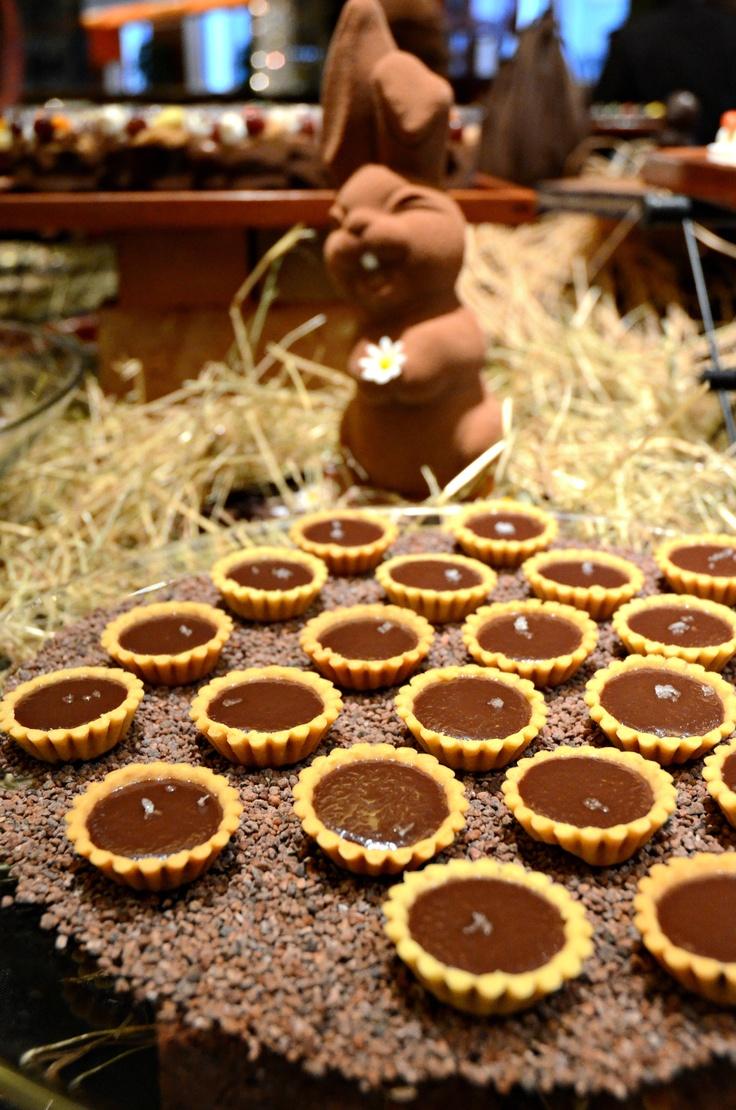 Sea Salt Chocolate Tart @ Clipper Lounge Easter Chocolate Enchantment Buffet