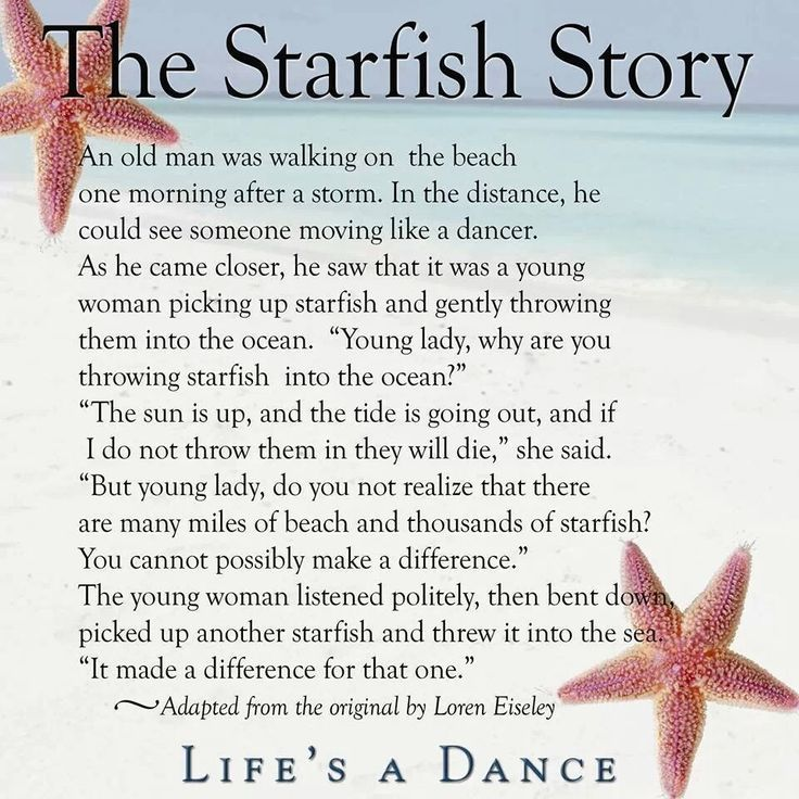 Making a Difference Starfish Story