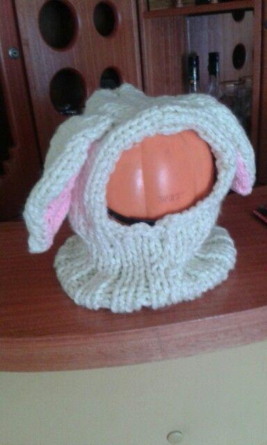 Gorro de lana conejito