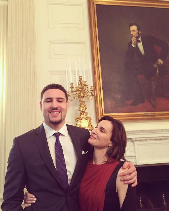 Klay Thompson and his mom :)