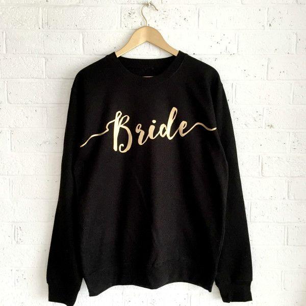 Bride wedding sweatshirt