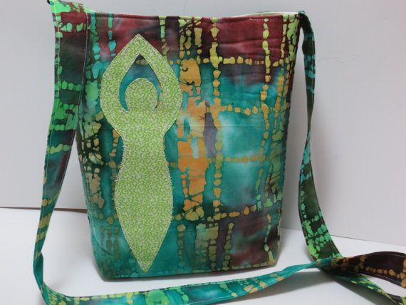 Goddess Bag  Goddess Applique Purse  Batik by BitchinBagsbyBenita, $46.00