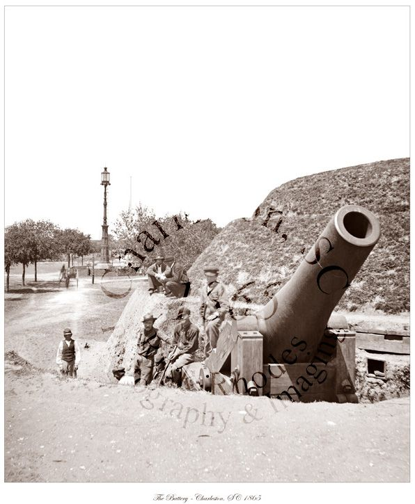 Civil War Photo - Battery Cannon - Charleston, SC 1865