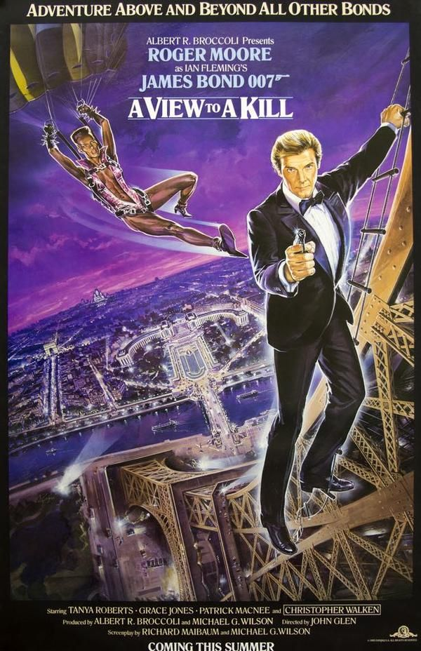 View To A Kill 1985 Roger Moore James Bond James Bond Movies