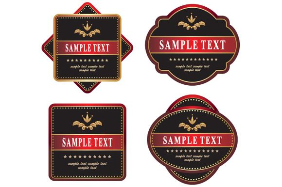 set of labels by Liliia Rudchenko  on Creative Market