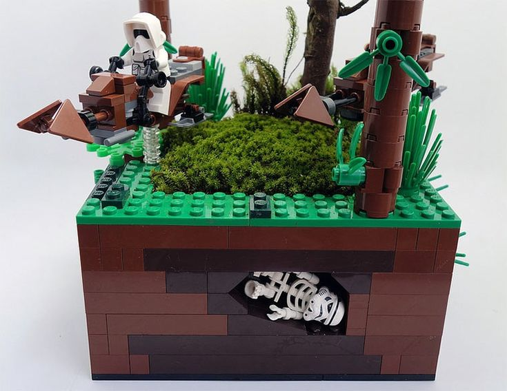 Great use of the skeleton and trooper helmet.