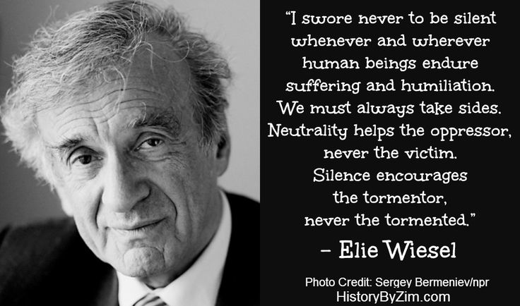 Elie Wiesel is a Romanian-born Jewish-American writer, professor, political activist, Nobel Laureate, and Holocaust survivor. During World War II, his parents and sister were killed in concentratio...