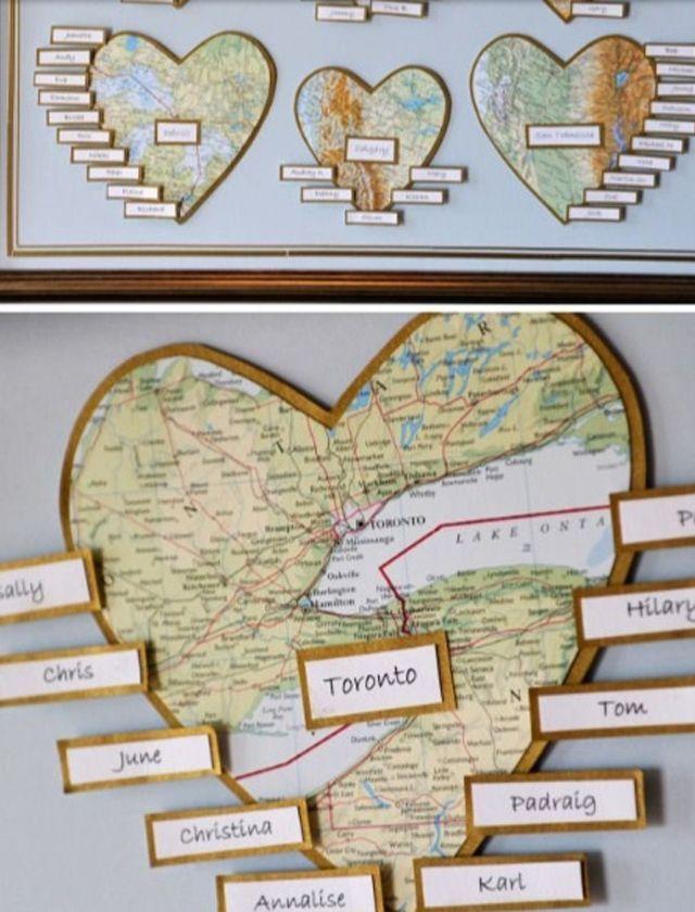 plan de table mariage voyage