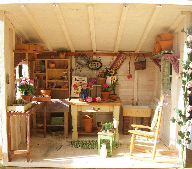 Pinterest garden shed interior decor joy studio design for Garden sheds interior designs