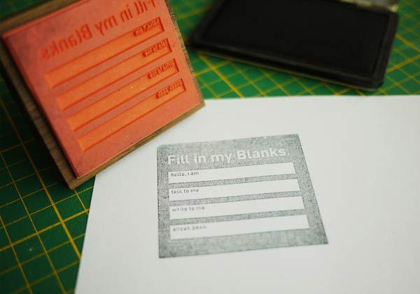 Desain Stempel Karet - Formulir 1