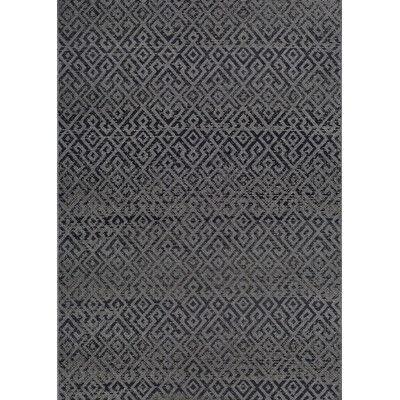 "Trent Austin Design Wellington Pavers Black/Gray Area Rug Rug Size: 3'9"" x 5'5"""