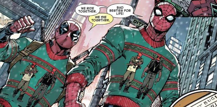 Marvel Universe - Wade Wilson x Peter Parker -  Deadpool x Spiderman - Spideypool