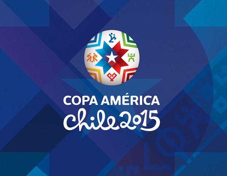 imagen de copa america 2015 color azul y letra blanca