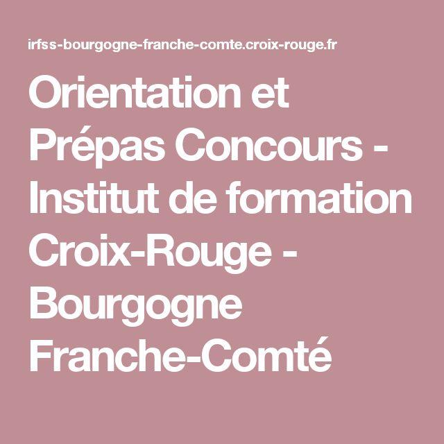 Orientation et Prépas Concours - Institut de formation Croix-Rouge - Bourgogne Franche-Comté