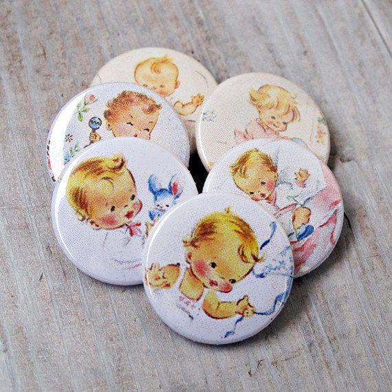 Set of 6 romantic buttons flair badges pins for by Lemoncraftshop, $4.50