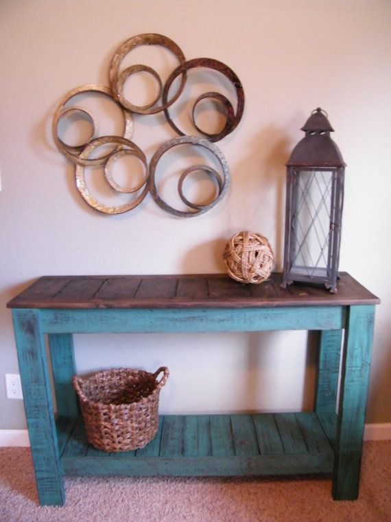 Rustic Console Table Distressed Sofa Tabl by CountryRecreations