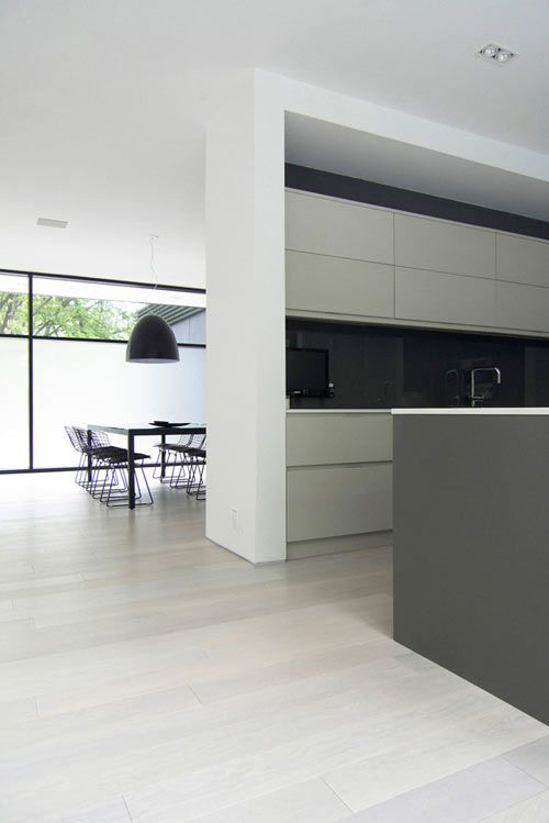 Minimal kitchen area, 44 Belvedere residence in Oakville, Canada by Guido Costantino Design Office _