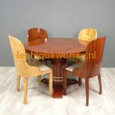 Art Deco eetkamer tafel mahonie 5 tot 6 personen