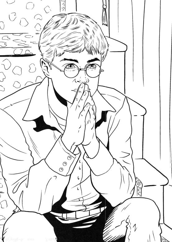 ron weasley coloring pages - photo#21