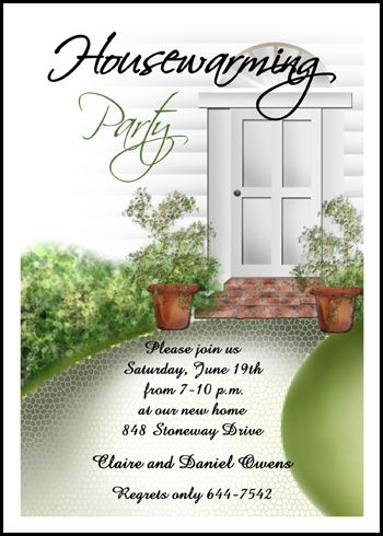 totally unique party invitations for housewarming celebration at InvitationsByU.com, invite card number 7658IBU-HI and find special discounted prices and other special promotions