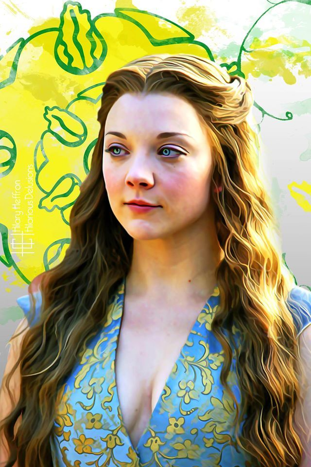 Margaery Tyrell ~ House Tyrell Sigil   Game of Thrones - by Hilary Heffron, Hilarious Delusions
