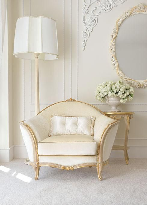This is me! A room in these serene shades of white and vanilla has a rich beautiful elegance that makes my heart sing!