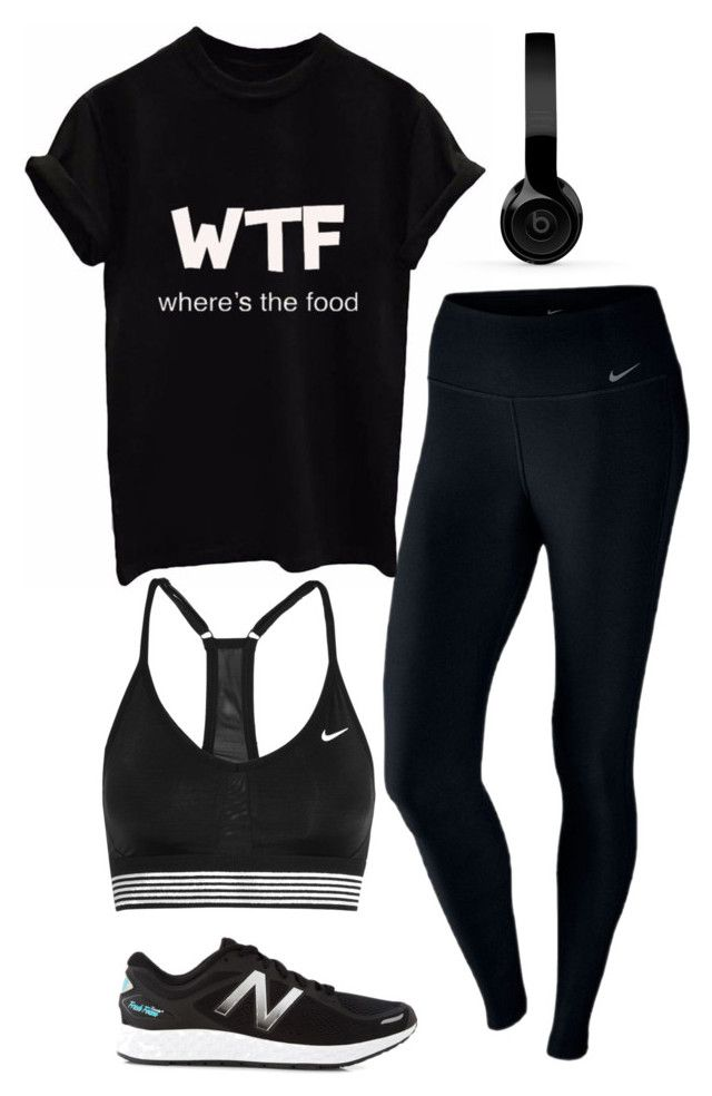 """Sport"" by roselie1405x on Polyvore featuring NIKE, New Balance and Beats by Dr. Dre"
