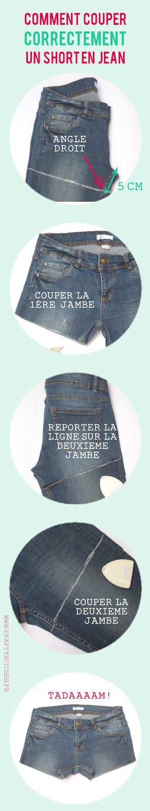 Comment couper un short en jean (sans faire de massacre)