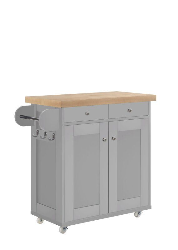 Leeton Kitchen Island Kitchen Island Trolley Grey Kitchen Island Portable Kitchen Island