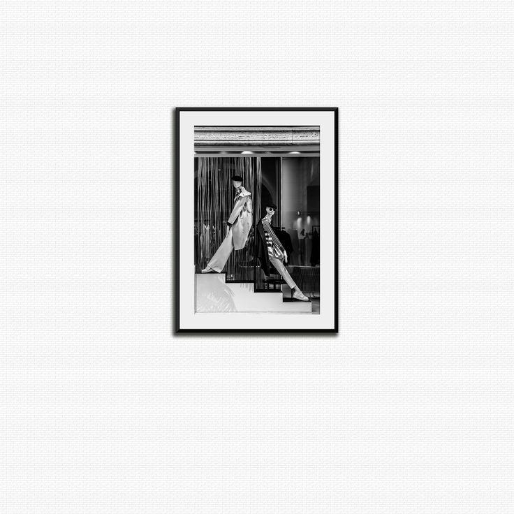 Foto di moda fotografia, bianco e nero, stampa a Via Roma