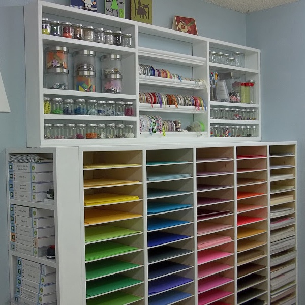 either paper with scrap booking on paints and glass and crafts gorgeous craft room makeover on a 22 dollar budget awesome ideas for storage