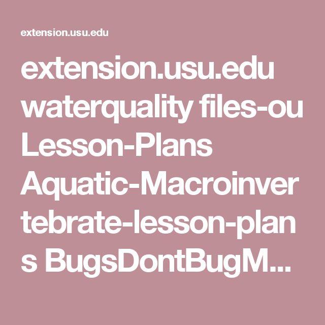 extension.usu.edu waterquality files-ou Lesson-Plans Aquatic-Macroinvertebrate-lesson-plans BugsDontBugMe.pdf