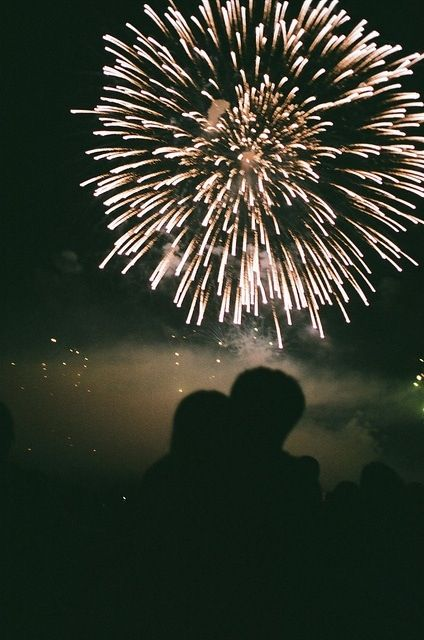 People staring up at the sky - fireworks going up so high - sharing memories as they go by...                xx